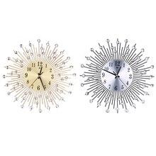 Metal Plus Diamond font b Wall b font font b Clock b font Iron Art Inlaid