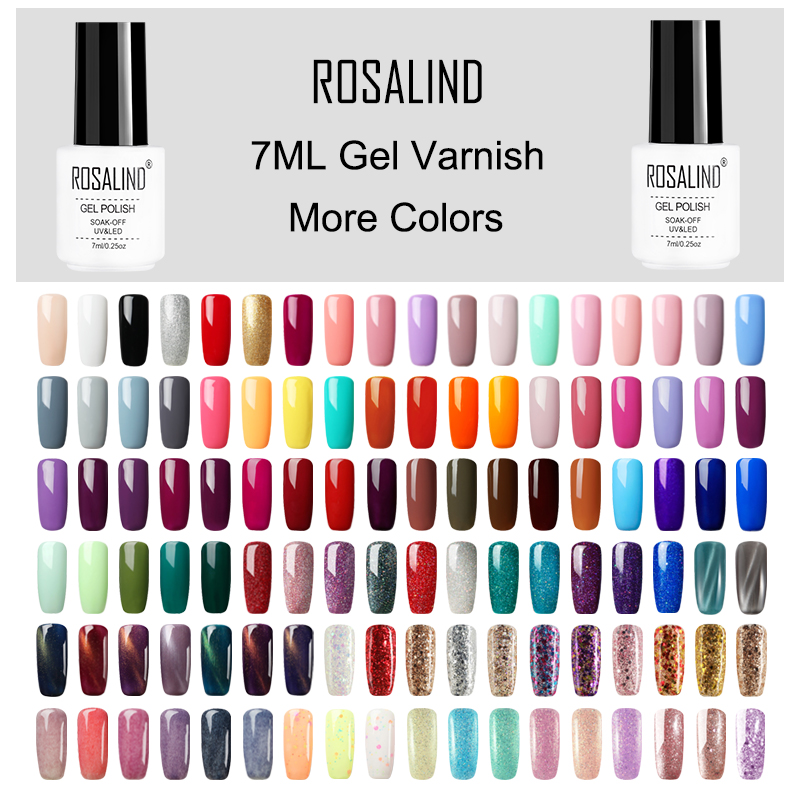 ROSALIND Gel Polish Nail Gel Varnish Paint Semi Permanent Hybrid Nails Art Gel Nail Polish For Manicure Gellak Top Coat Primer