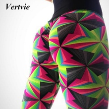 Vertvie Women Yoga Pants Patchwork Running Pants Fitness Leggings High Waist Tight Sports Pants Running Gym Workout Sportswear
