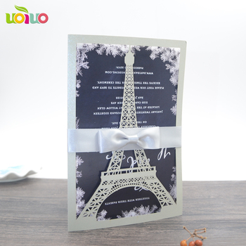 free shipping 50set inc172 silver Laser cut wedding invitation cards ,marriage floral birthday Anniversary invitations card