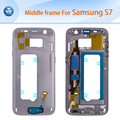 Best quality orginal middle housing for Samsung Galaxy S7 G930 middle frame chassis+side button black white gold silver blue