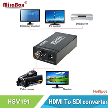 HSV191 HDMI to SDI Converter Adapter HDMI SDI Adapter SD/HD/3G-SDI Adapter Support 1080P for Camera Home Theater