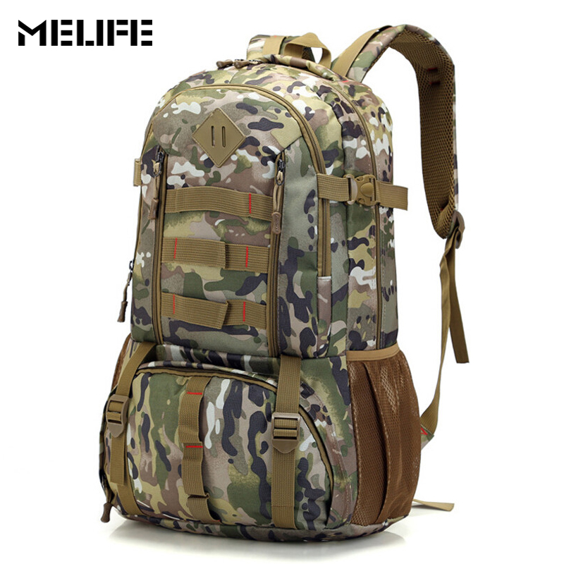 MELIFE 3P Tactical Backpack Military Army Mochila Waterproof Hiking Camo Outdoor Hunting Backpacks Molle Rucksack Sports Bag 50L
