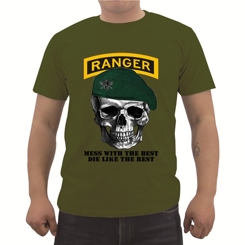 New Cool T Shirt Usa Army Ranger Green Beret Print T Shirt Men S
