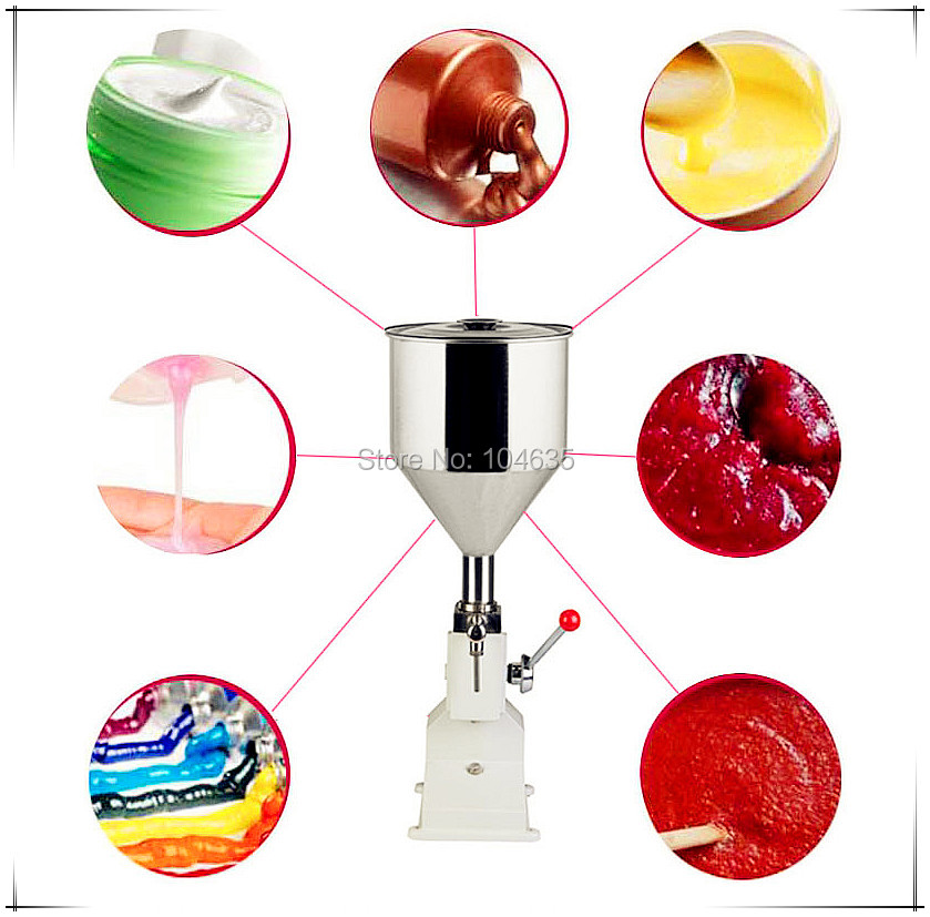 FREE SHIPPING A03 NEW Manual Filling Machine (5~50ml) for cream , shampoo , cosmetic,Liquid filler packing machinery a03 new manual filling machine 5 50ml for cream