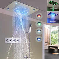 Rain Shower Set 360*500mm New Design Luxury Shower System Ceiling Waterfall Massage Faucets Thermostaic Diverter Valve