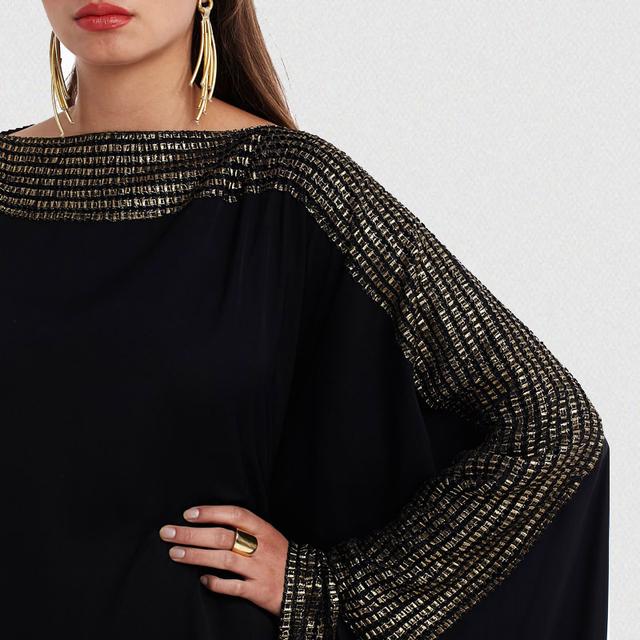 plus size S~6XL quality new arab elegant loose abaya kaftan islamic fashion muslim dress clothing design women black dubai abaya