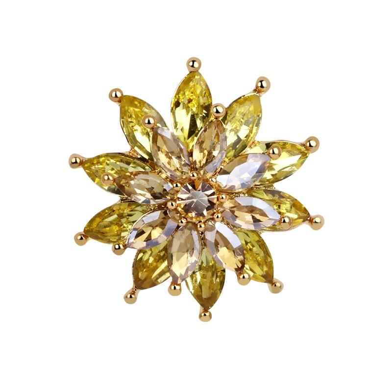 New Lady Fashion Snowflake Flower Crystal Christmas Brooch ...