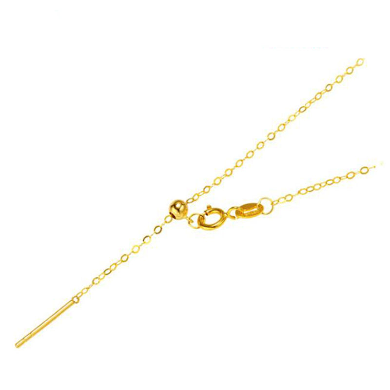 Sinya 18k Classical AU750 Gold Universal Chain 0.8gram Pure Gold Adjustable Chain DIY necklace accessrioes best Gift For Women (1)