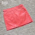 3 Colors Sexy genuine leather skirts women goatskin A-Line skirt faldas jupe saia etek pencil mini skirt Free shipping LT154