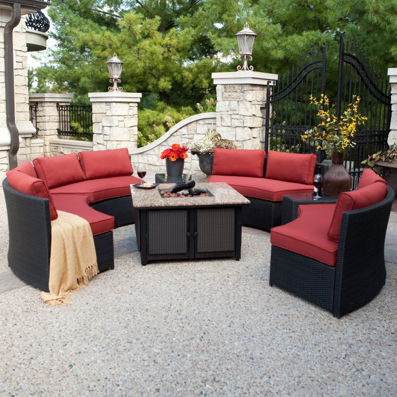 widely used patio round customized design rattan sofa furniture