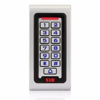 SIB IP68 Waterproof Metal Case Silicon Keypad RFID 125Khz EM Card Standalone Access Controller For Outdoor