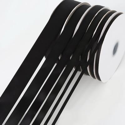 5 ярдов/рулон корсажные атласные ленты для свадьбы, украшения для рождественской вечеринки, самодельные ленты для поделок, открыток, подарочных упаковочных принадлежностей - Color: Black