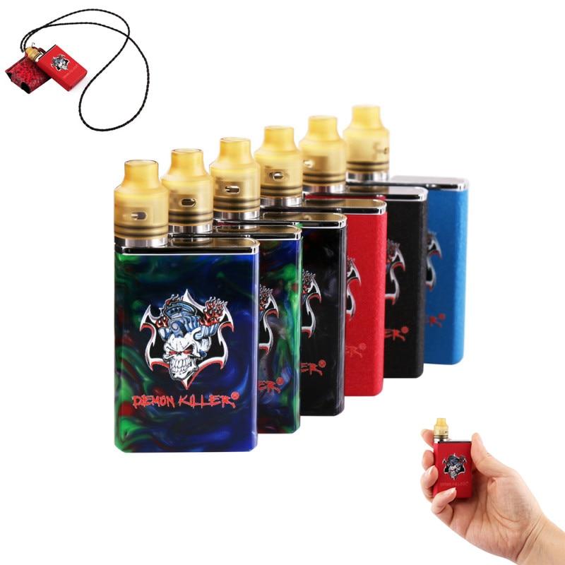 Original Dämon Mörder Tiny Kit mit tiny RDA tank led-bildschirm 800 mAh batterie vaper harz elektronische zigarette kits vape