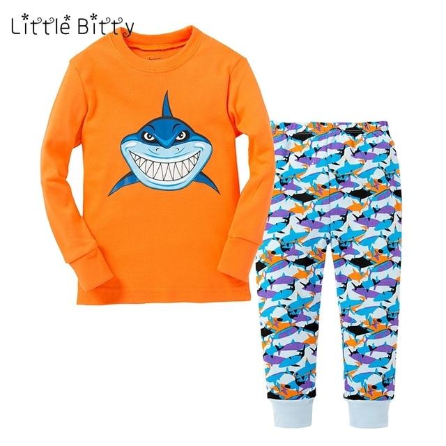 2019 Summer Spring Boys Pajamas Children Shark Printing Pajama Sets Baby  Nightwear Kids Home wear Children Sleepwear Pyjamas Pjs ab44d1e16