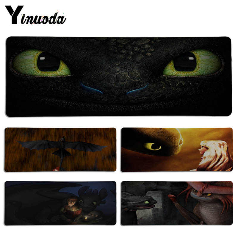 Yinuoda In Stocked How to Train Your Dragon Toothless Keyboard Gaming MousePads Size for 30x70cm and 30x90cm Game Mousepad