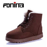 FONIRRA Women Snow Boots Martin Boots Classic Winter Outwear Cotton Warm Fur Boots Solid Color Available