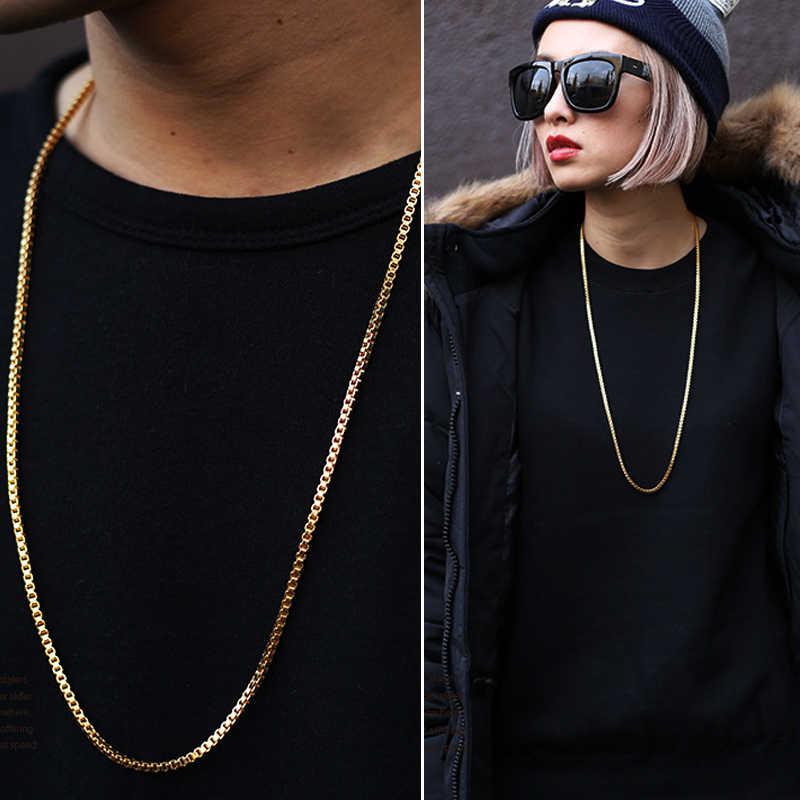 XIAOJINGLING wąż łańcuch złoty/srebrny kolor długi naszyjnik dla kobiet mężczyzn sprzedaż hurtowa Hip-Hop Party biżuteria koncert akcesoria do szyi