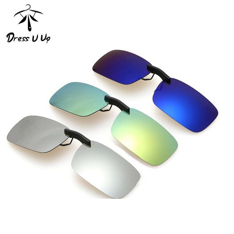 New Fashion Men Polarized UV 400 Clip-on Flip-up Driving Glasses Sunglasses BG
