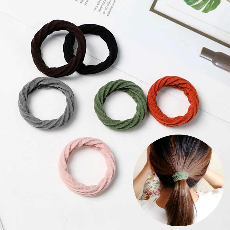 Fashion Hair Rope High Resilience 1PC Seamless Overstriking  Hot Sale Hair Accessories Girls Women Elastic Hair Band