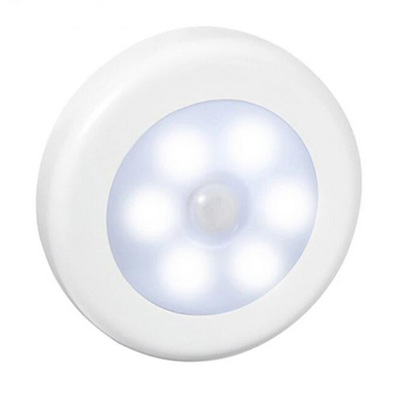 AKDSteel Infrared PIR Motion Sensor 6 Led Night Light Magnetic Wireless Detector Light Wall Lamp Light Auto On/Off Closet