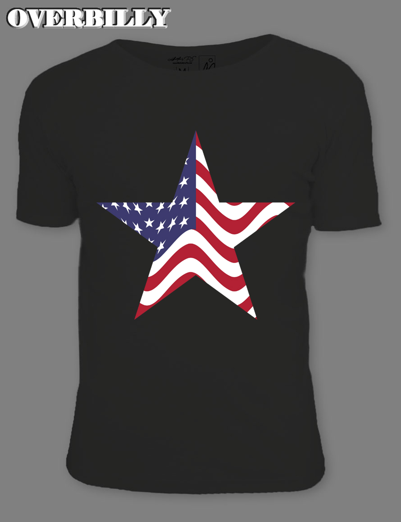 2017 T Shirt Designer Online Black Distressed american flag clipart star Short Sleeve Mans Personalized T Shirt 3XL 6 colors
