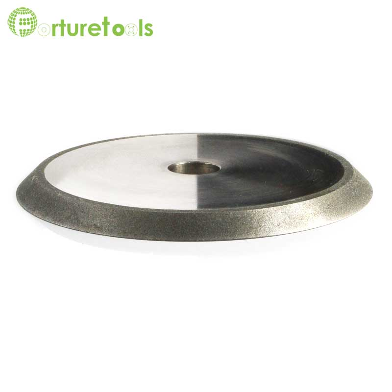 One piece 1V1 electroplated diamond grinding wheel for glass shaping tungsten carbide grinding DZ 1 piece electroplated diamond coated abrasive grinding wheel of round n straight edge for 3 12mm glass shape edging machine tz74