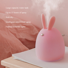 Air Humidifier Ultrasonic Aroma Essential Oil Diffuser Cute Rabbit Freshener Nebulizer with LED Night Lamp Tabletop Diffuser