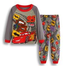 Купить с кэшбэком Hot Selling Cotton Children's Clothing Boy Baby Cartoon Long-Sleeve Spider-Man Pajama Set Pajamas Air Conditioning Suit K152
