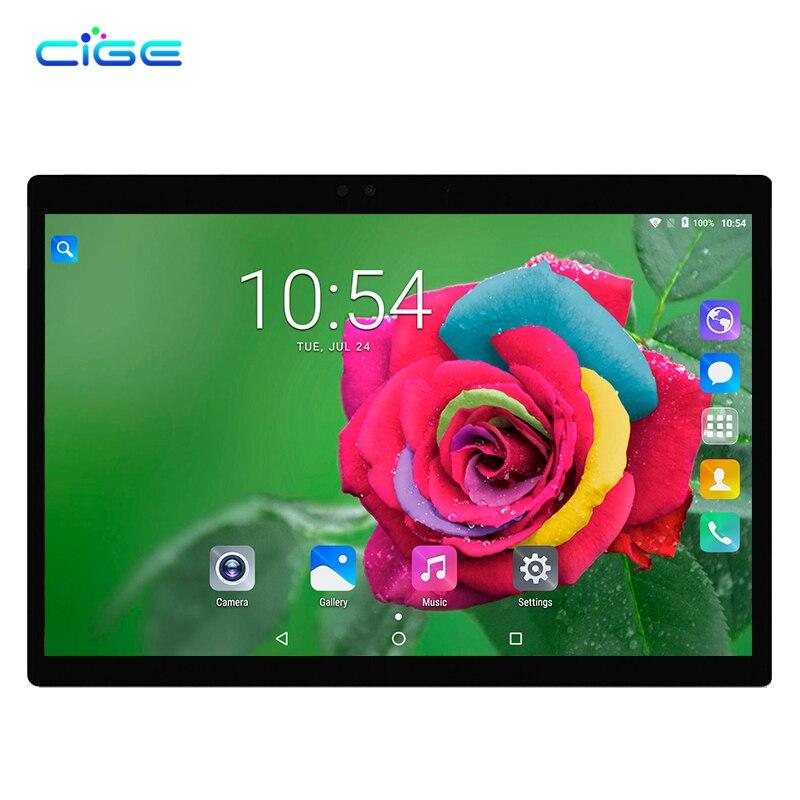 CIGE Octa Core 10,1 pulgadas Tablet PC Android 7,0 Octa Core 4 GB RAM 64 GB ROM Dual SIM 5.0MP GPS 1920*1200 IPS tabletas WiFi GPS FM