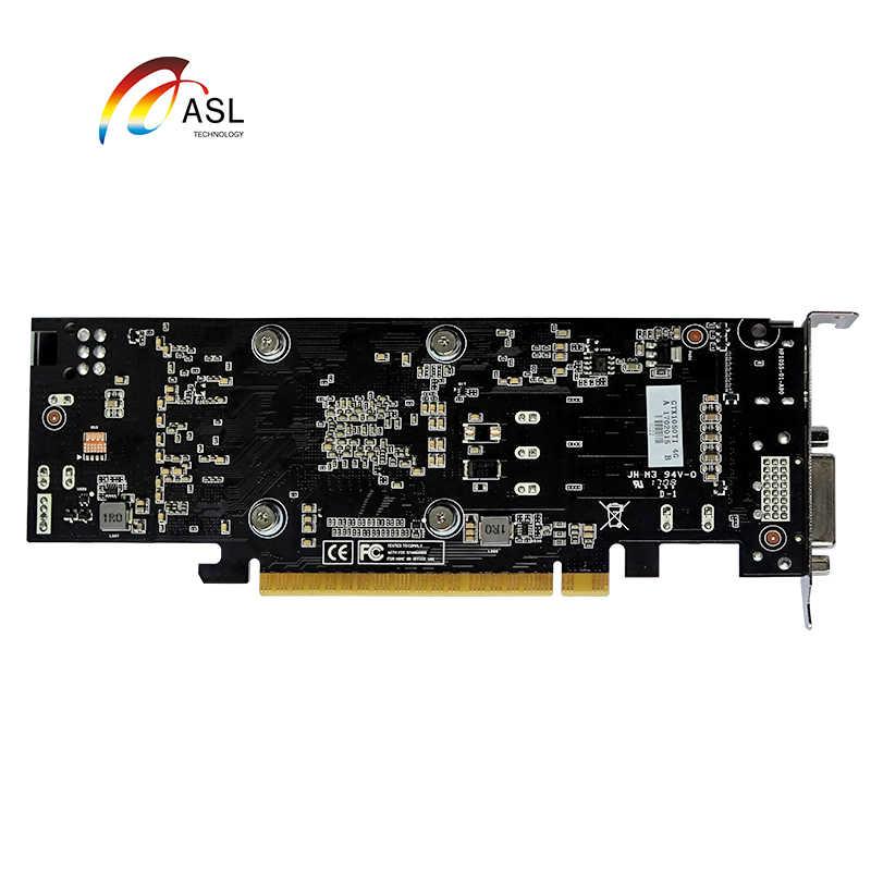 ASL GT1050 SSLP 2G GDDR5 128bit بطاقة جرافيكس جديدة بطاقات فيديو أصلية للعبة nVIDIA Geforce GT 1050 Hdmi Dvi