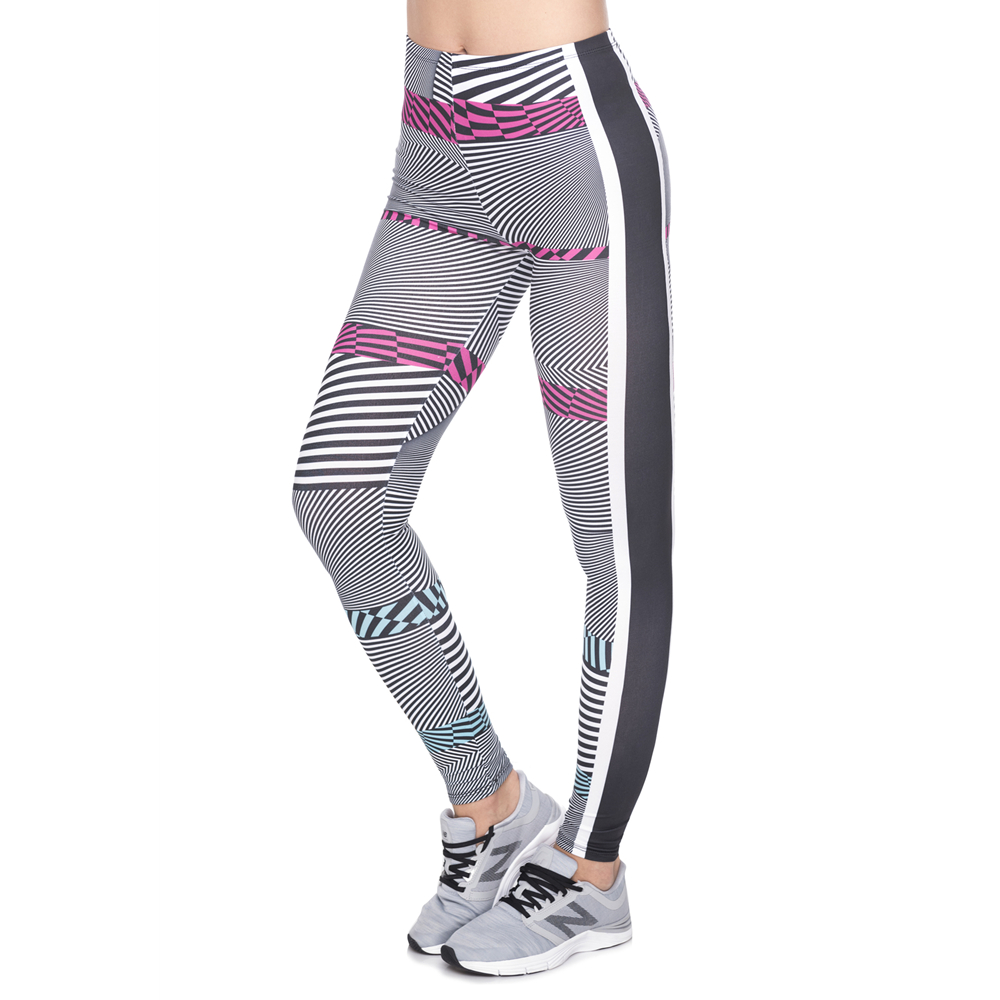 New Arrival Leggins Mujer Hypnotic Strips Printing Legging Feminina Leggins Fitness Woman Pants Workout Leggings