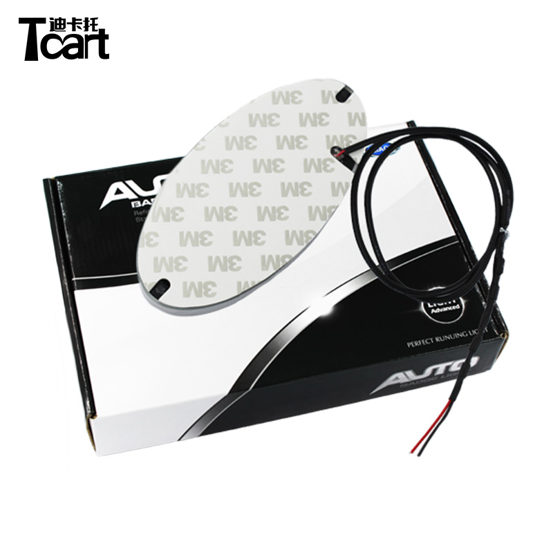 Tcart For Hyundai 4D Emblem light lamp 4D led Back Rear Badge Sticker light LED light 4D logo light Emblems led image