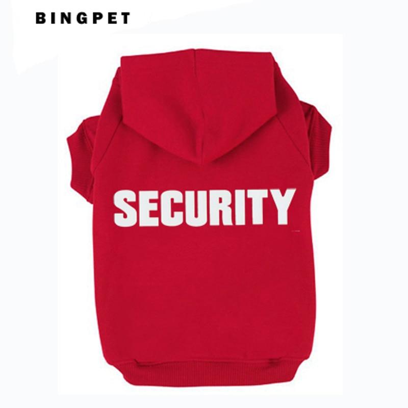 Sudadera con capucha Cat Fleece Dog Hoodies Design Security para otoño / invierno 7 tamaños 4 colores