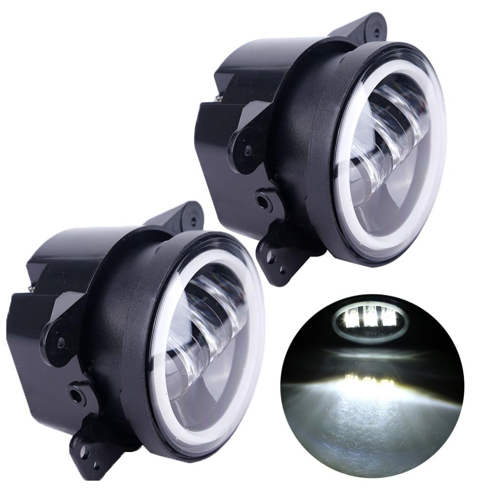 2PCS / Cüt Wrangler JK 07 ~ 14 Yüksək Güclü LED Sis Lampası, - Avtomobil işıqları - Fotoqrafiya 3