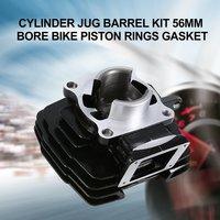 Cylinder Jug Barrel Kit 56mm Bore for YAMAHA DT125 Dirt Bike Piston Rings Gasket