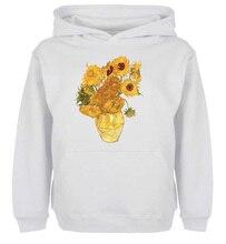 Unisex Sweatshirts For Boy font b Men b font Long sleeves Van Gogh Still Life Fifteen