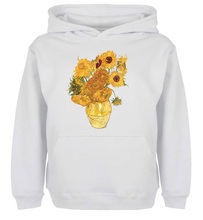 Unisex Sweatshirts For Boy Men Long sleeves Van Gogh Still Life Fifteen Sunflowers Print Autumn Winter Couple Hoodies