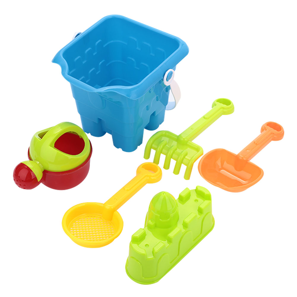 Набор для игры на пляже, пляжный игровой костюм, Пляжная игрушечная лопата, 6 шт., многоцветная пластиковая пляжная Летняя Вечеринка, модная детская модель лопаты