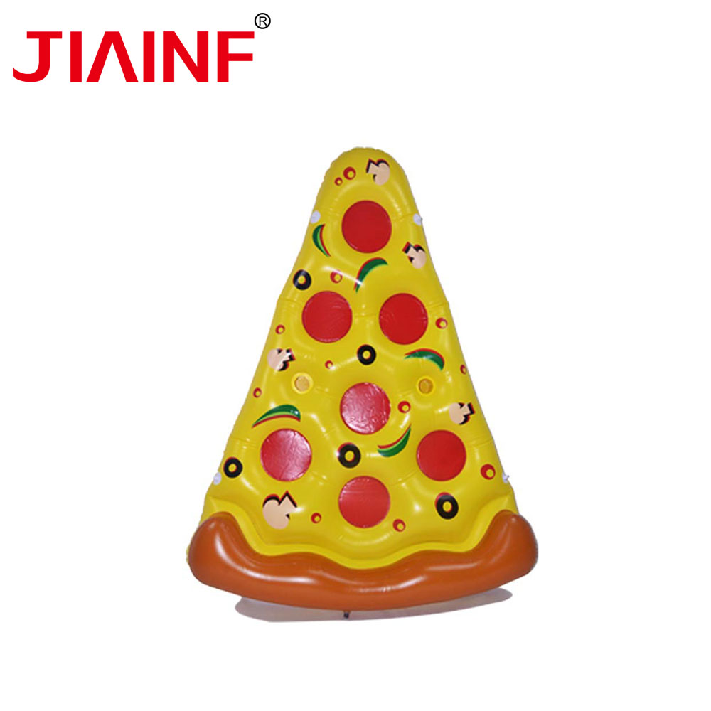 JIAINF Inflatable Cute Pizza Shape Drinks Float Row Triangle Swim Float Cup Holder Party Toys Water Mattress For Drinks Cups