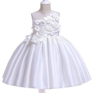 Image 4 - Vestidos de fiesta de princesa para niñas, pétalos de rosa, ropa de cumpleaños para niños y niñas, ropa para niños, disfraz de bebé L5068