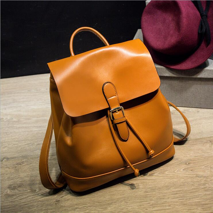 Leather Backpack Restore ancient ways Women s Backpack Leather Travel bag