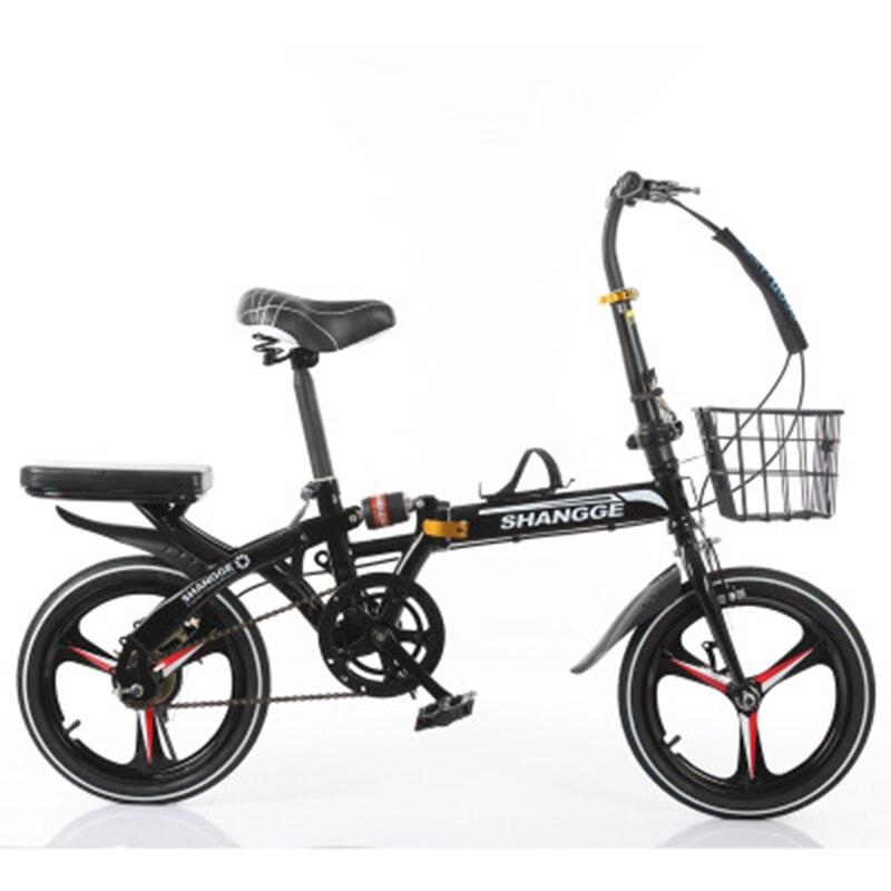 Folding Bike 20 Inch Grid Speed Change Disc Brake Men And Women Ultra-Light Student Portable Bicycle