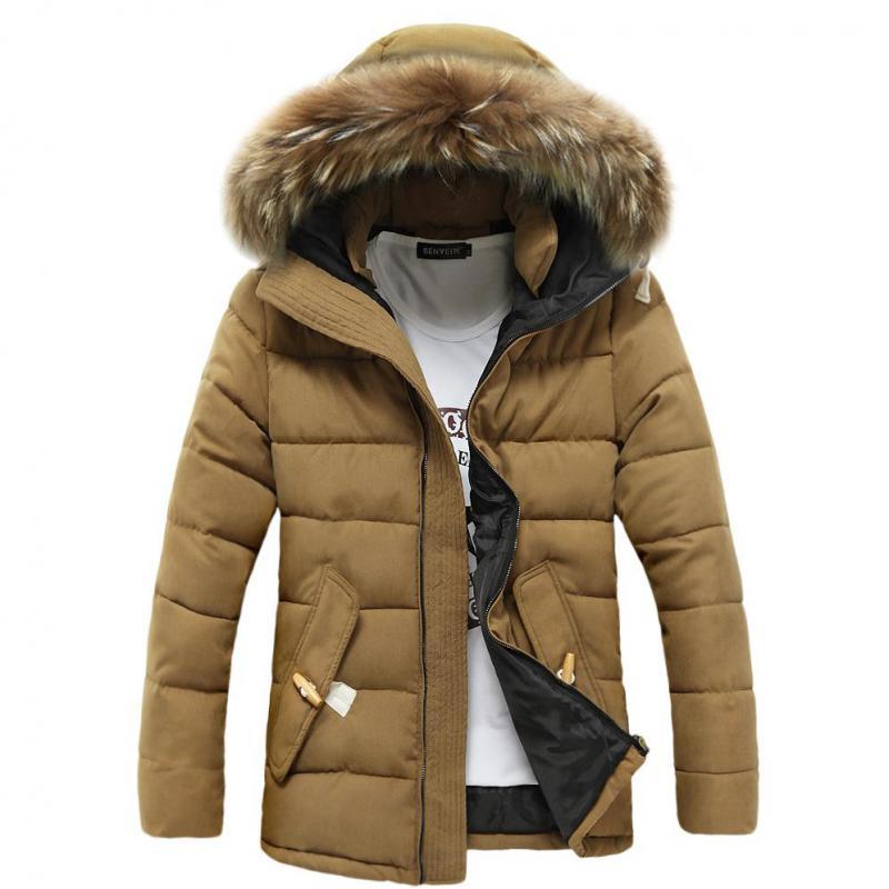 ФОТО Hot 2017 New Winter Men  Raccoon Fur Cotton Korean Style Popular Cool Fashion Free Shipping
