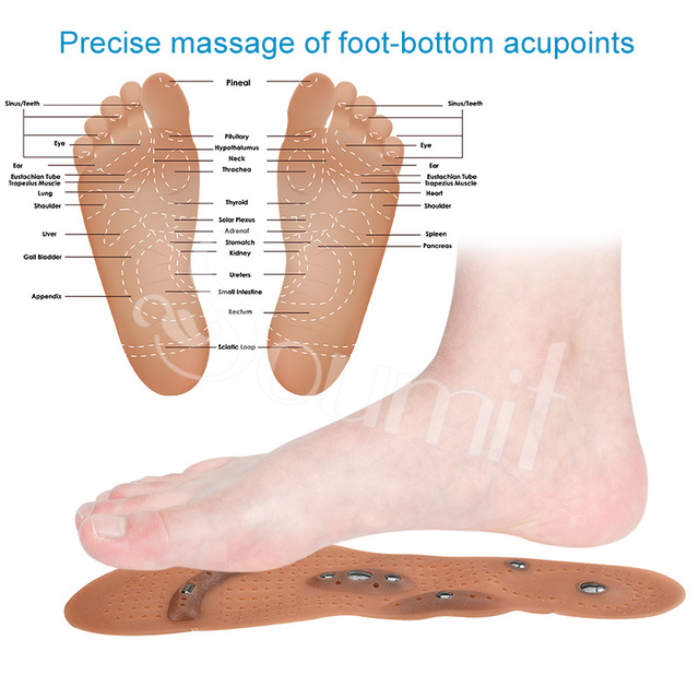 Soumit Magnetic Therapy Massage Insoles for Men Women Weight Loss Promote Blood Circulation Foot Magnet Health Care Shoe Pads 3