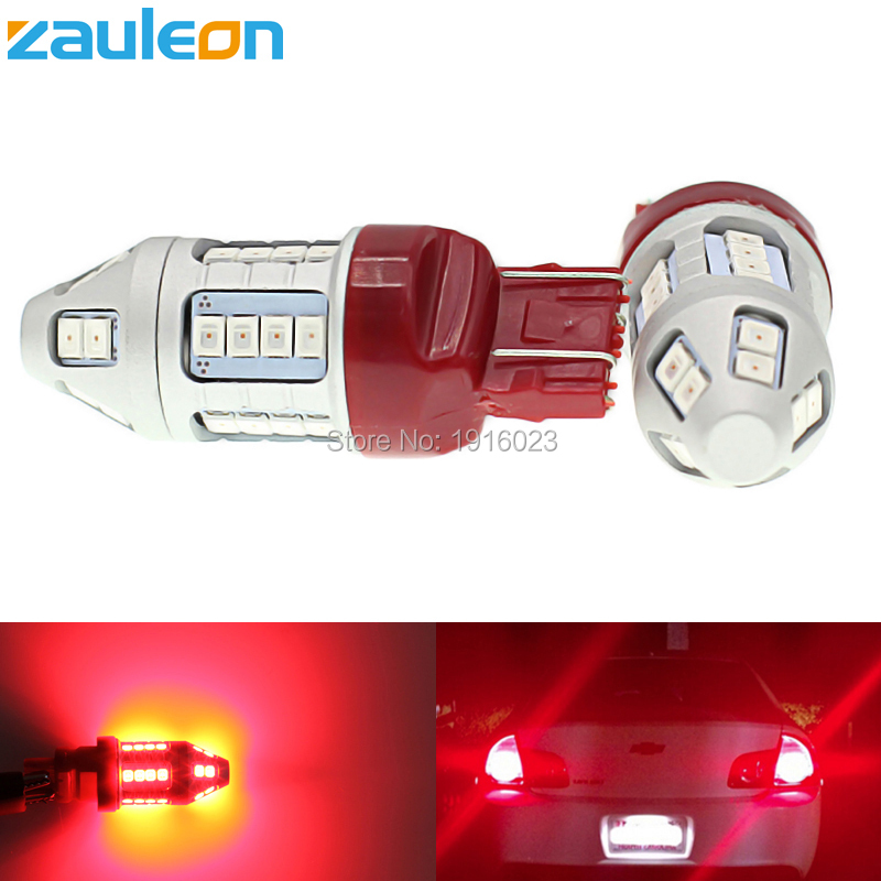 Zauleon 2pcs Super bright T20 7443 W21/5W LED Red Car Taillight Bulb Tail Brake Lights Lamps rear light car LED replace bulb