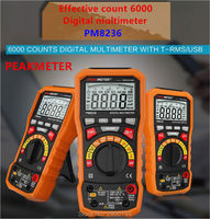 PEAKMETER PM8236 Auto manual Range Digital Multimeter mit TRMS 1000 V Temperatur kapazität frequenz Test-in Multimeter aus Werkzeug bei