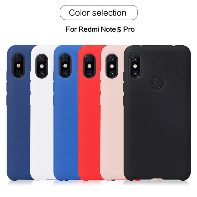 best sneakers a9818 7fe08 US $1.99 |For Xiaomi Redmi Note 5 Pro Case Original Liquid Silicone Rubber  Capa Mi A1 5X 8 Soft Phone Cover For Redmi Note 5 Global (L0110-in Fitted  ...