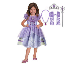 Girls Sofia the First Princess Dress Fancy Kid Birthday Christmas New Year Gift Child Halloween Cosplay Costume