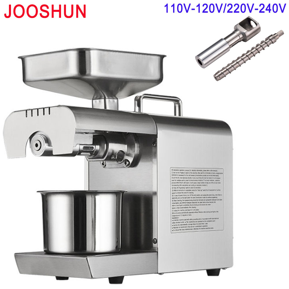 1pc Automatic Oil Press Peanut Sunflower Linseed Nuts Seeds Oil Pressed Expeller Vegetable Plant Oil Extractor Machine for Home Мельница